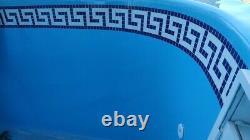 Swimming Pool Border Liners. 40 METERS LONG Decorative Underwater Decals/Stripes