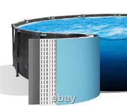 ULTRA BLACK SWIMMING POOL Intex 488cm 16 FT Garden Ground Pool + PUMP Lader GIFT