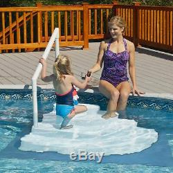 Wedding Cake Above Ground Pool Step with Liner Pad White