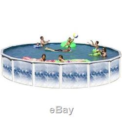 Yorkshire Round 8' 9 x 52 Above Ground Steel Swimming Pool With Blue Liner ONLY